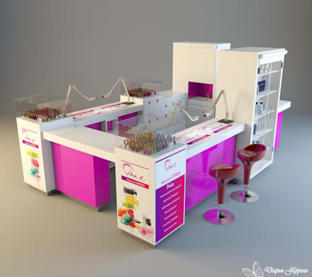 Проект Неил бара (маникюр экспрес) 2: Торговые центры в . Автор – Your royal design