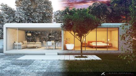 SK ARCHITECTURAL VISUALIZATION – Orman Evi (Forest House): modern tarz Evler