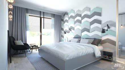 63 m2: styl , w kategorii Sypialnia zaprojektowany przez ADV Design