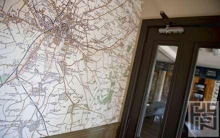 Bespoke map wallcoverings:  Bars & clubs by Tektura Wallcoverings