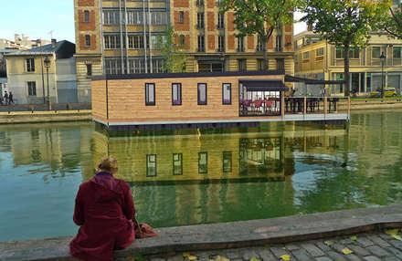 Aquashell  Brasserie design:  Bars & clubs by Floating Habitats T/A AQUASHELL