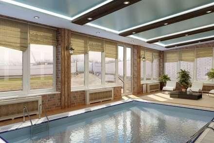 Дизайн бассейна: Бассейн в . Автор – Дизайн студия 'Exmod' Павел Цунев
