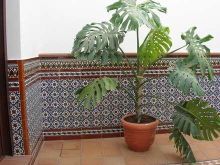 Patio: Jardines de estilo mediterráneo de Hispalcerámica
