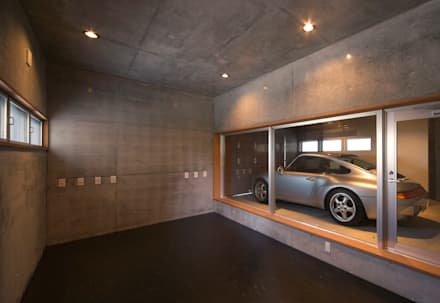 modern Garage/shed by STUDIO POH