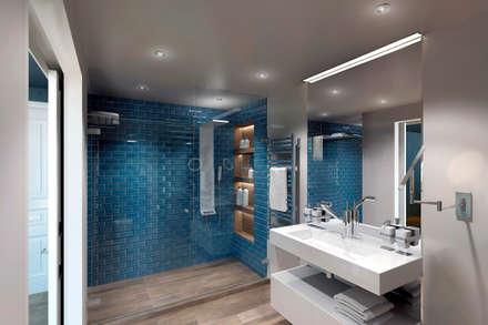 eclectic Bathroom by lab21studio