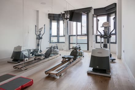 minimalistic Gym by SILVIA REGUERA INTERIORISMO