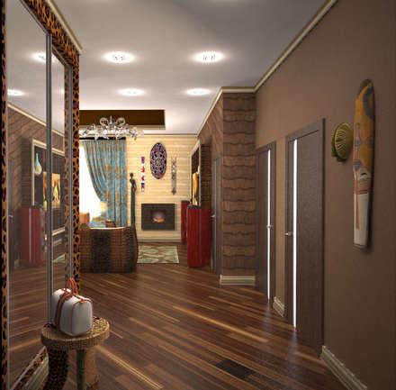 Гостиная в стиле ариканского сафари: Коридор и прихожая в . Автор – Гурьянова Наталья