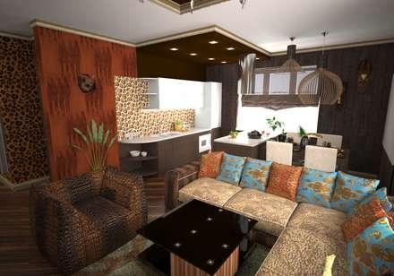 Гостиная в стиле ариканского сафари: Кухни в . Автор – Гурьянова Наталья