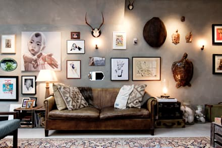 eclectic Living room by BRICKS Studio