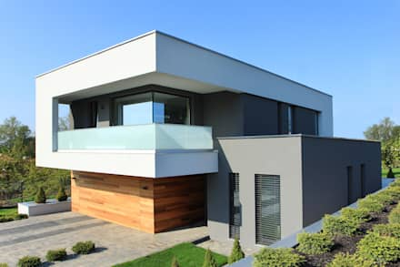 Dom w Gorzowie: styl nowoczesne, w kategorii Domy zaprojektowany przez STRUKTURA Łukasz Lewandowski