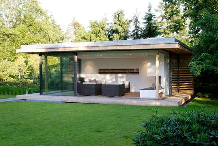 Moderner Gartenpavillion im nördlichen Ruhrgebiet: moderner Garten von Stockhausen Fotodesign