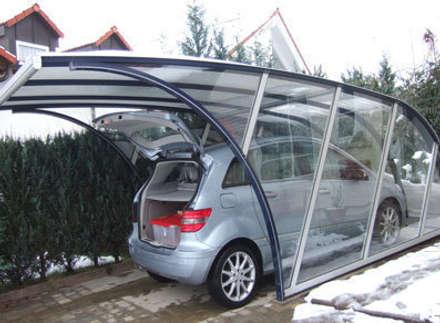 France Abris - Abri voiture design: Garage / Hangar de style de style Moderne par FRANCE ABRIS : Spécialiste  abri de jardin, garage, carport