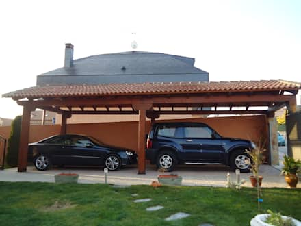 برجولا للسيارة تنفيذ Pergomadera Pérgolas y Porches de madera
