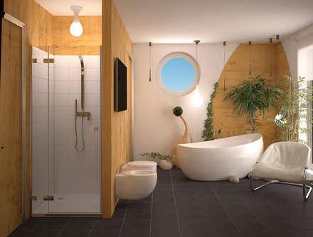 Ванная в стиле Эко: Ванные комнаты в . Автор – Инна Меньшикова