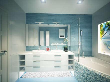 Квартира для души: Ванные комнаты в . Автор – Polovets design studio