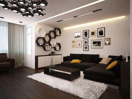 Квартира для души: Гостиная в . Автор – Polovets design studio