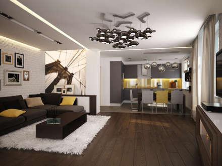 Квартира для души: Балконы, веранды и террасы в . Автор – Polovets & Tymoshenko design studio