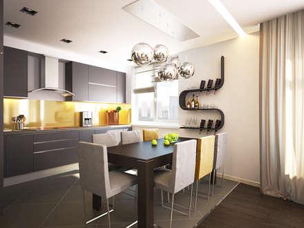 Квартира для души: Кухни в . Автор – Polovets design studio