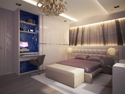 Квартира для души: Спальни в . Автор - Polovets & Tymoshenko design studio