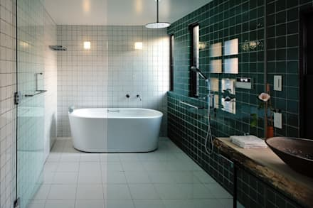 ドレッサールーム: アトリエセッテン一級建築士事務所が手掛けたスパです。
