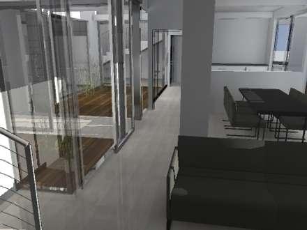 Nutzungsänderung einer Brennerei in ein Loft: industrialer Wintergarten von Andreas Wünnenberg     Architekt