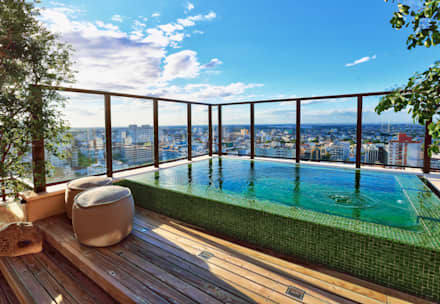 Piscinas de estilo moderno por Tellini Vontobel Arquitetura