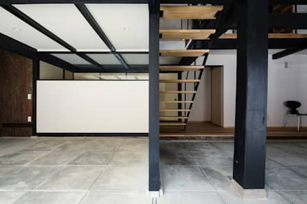 Garage/Rimessa in stile in stile Asiatico di タクタク/クニヤス建築設計