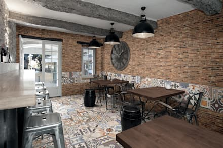 East End Brick: industrial Dining room by The Baked Tile Company