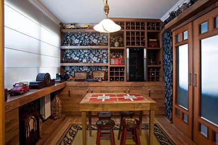 rustic Wine cellar by Adriane Cesa Arquitetura