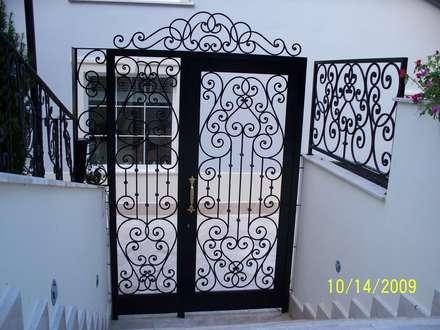 Teknik Metal Ferforje – Ferforje Bahçe Kapıları: modern tarz Bahçe