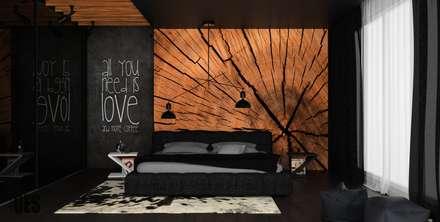 Projekt sypialni : styl , w kategorii Sypialnia zaprojektowany przez OES architekci
