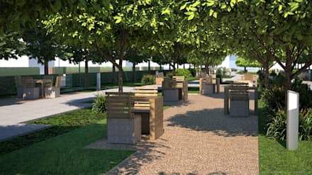Ландшафтный проект парковой зоны в 3-D: Конференц-центры в . Автор – Студия 'ART Story'