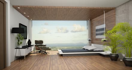 Recamara y Vestidor Moderno: Recámaras de estilo moderno por Citlali Villarreal Interiorismo & Diseño