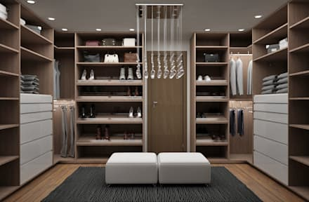 Vestidores y closets modernos ideas homify for Interiores de closet de madera