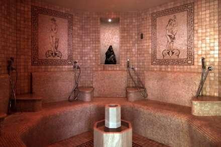 Bagno Turco: Bagno turco in stile  di arlan.ch atelier d'architettura