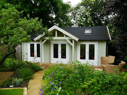 Emily Garden Cabin with canopy: colonial Garden by Garden Affairs Ltd