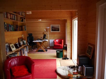 Log cabin garden room interior: scandinavian Garden by Garden Affairs Ltd