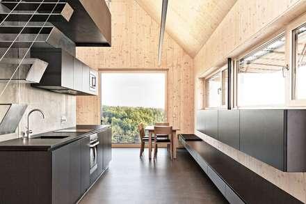 Maison bois cuisine de style de style moderne par archiconfort