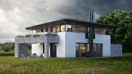Villa Green River: Case in stile in stile Moderno di DomusGaia