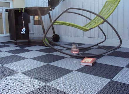 Bergo Briq tiles:  Terrace by Ecotile Flooring
