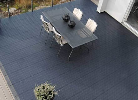 Bergo XL tiles on balcony floor:  Terrace by Ecotile Flooring