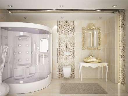 Sinar İç mimarlık – Banyolar ve Wc: klasik tarz tarz Banyo