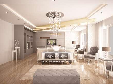 Sinar İç mimarlık – Salon: klasik tarz tarz Oturma Odası