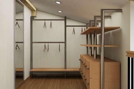 Винтаж на мансардном этаже: Гардеробные в . Автор – Студия дизайна и декора Светланы Фрунзе