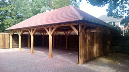 Rustic style garage shed ideas inspiration homify for Rustic carport