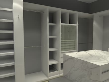 Vestidores y closets modernos ideas homify for Closet en escaleras