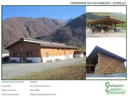 Casa di Legno: Garage/Rimessa in stile In stile Country di Galloppini Legnami