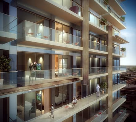 The Residences at Marina Gate, Dubai, by Aedas: modern Houses by Aedas