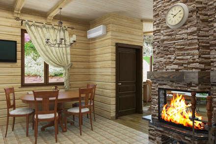 Дизайн-проект деревянного дома: Столовые комнаты в . Автор – Студия дизайна и декора Светланы Фрунзе