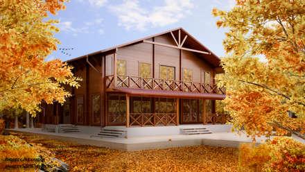 Визуализация дома из бруса: Дома в . Автор – Андреев Александр